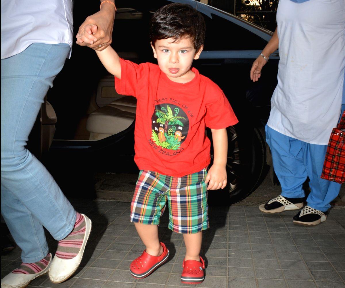 Actors Saif Ali Khan and Kareena Kapoor's son Taimur Ali Khan