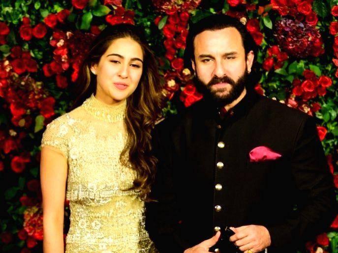 Actors Saif Ali Khan with daughter Sara Ali Khan