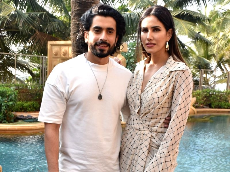 Actors Sunny Singh and Sonnalli Seygall during the promotions of their upcoming film Jai Mummy Di