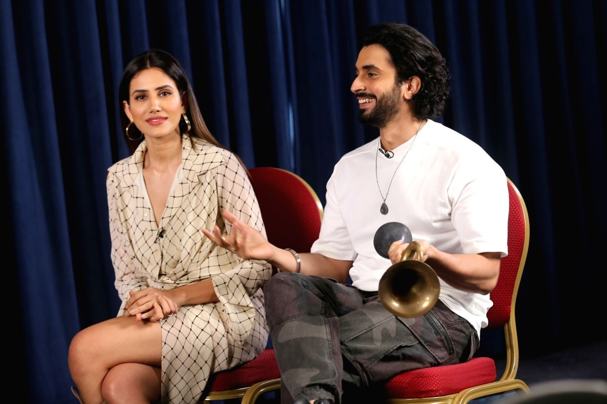 Actors Sunny Singh and Sonnalli Seygall during the promotions of their film Jai Mummy Di