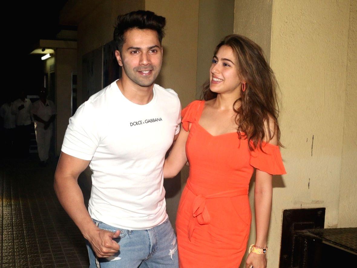 Actors Varun Dhawan and Sara Ali Khan