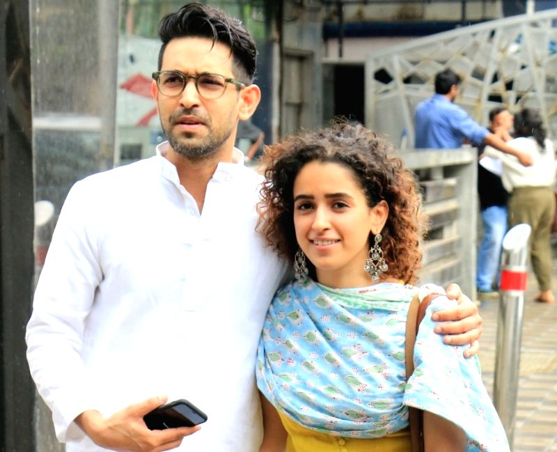 Actors Vikrant Massey and Sanya Malhotra