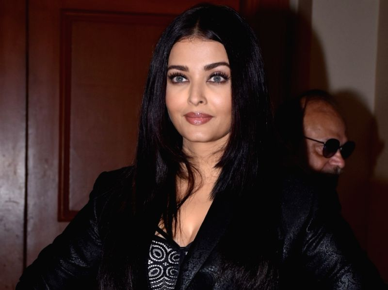 """Actress Aishwarya Rai Bachchan at the trailer launch of the upcoming film """"Maleficent: Mistress of Evil"""""""