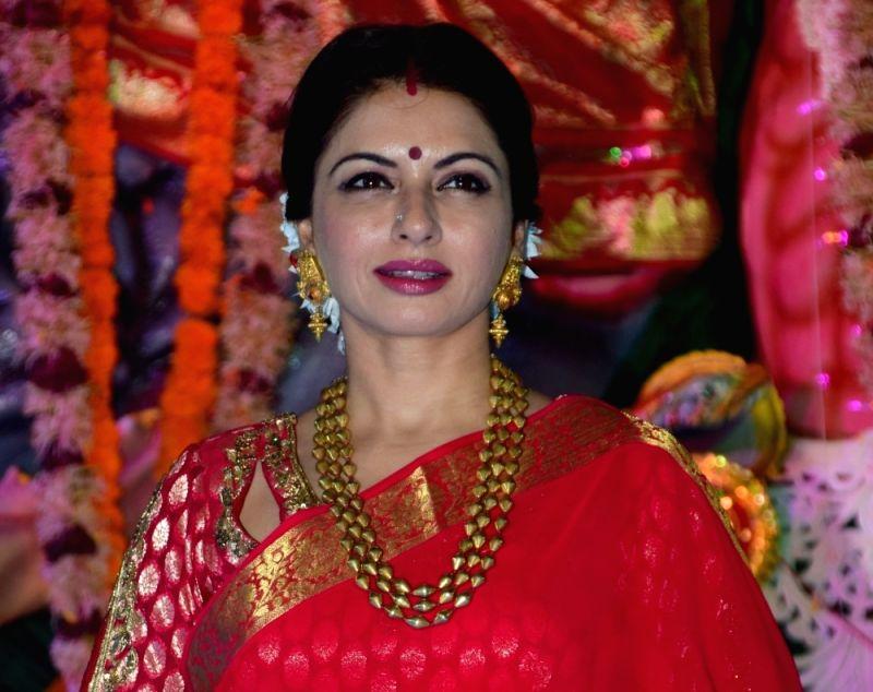 Actress Bhagyashree during Durga Puja celebrations (File Photo)