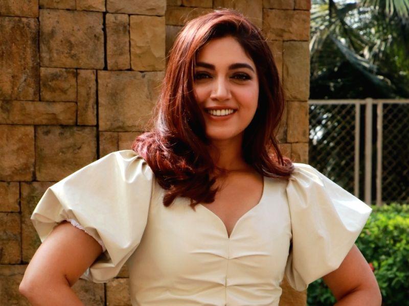 "Actress Bhumi Pednekar during the promotions of her upcoming film ""Pati Patni Aur Woh"""