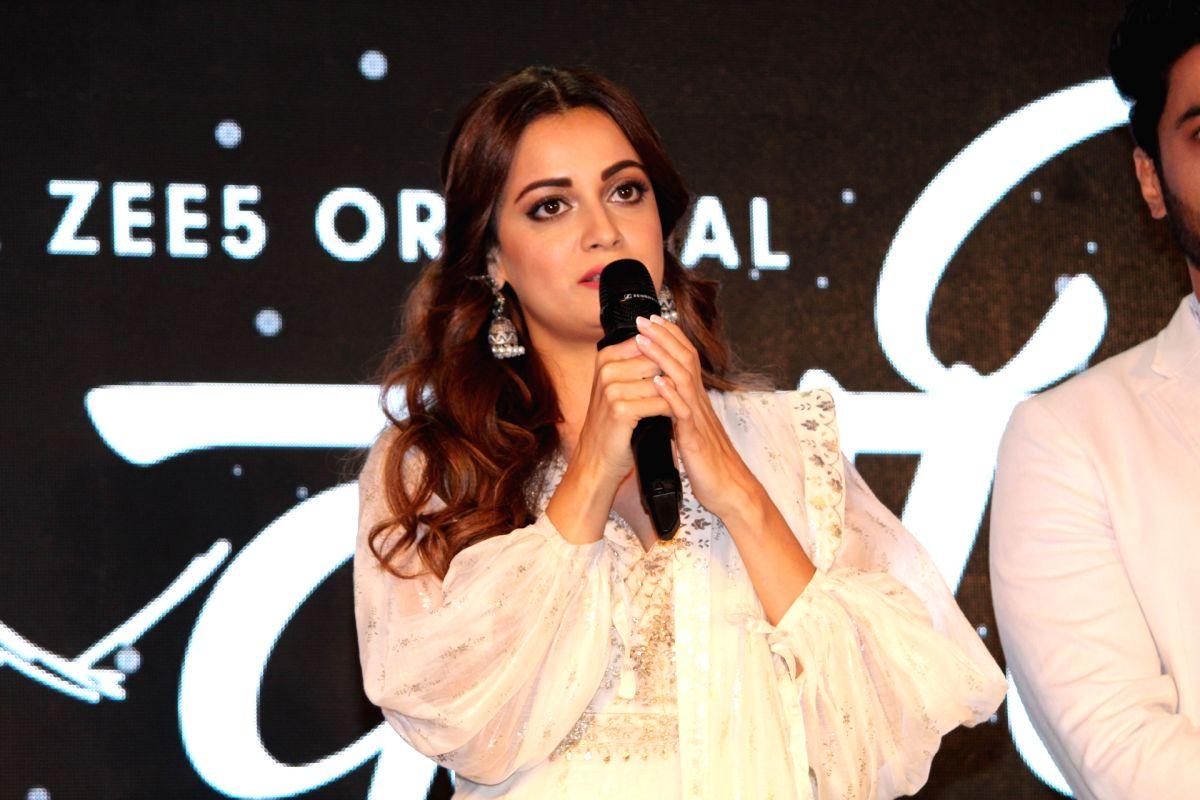 "Actress Dia Mirza addresses at a press conference of ""Kaafir"""