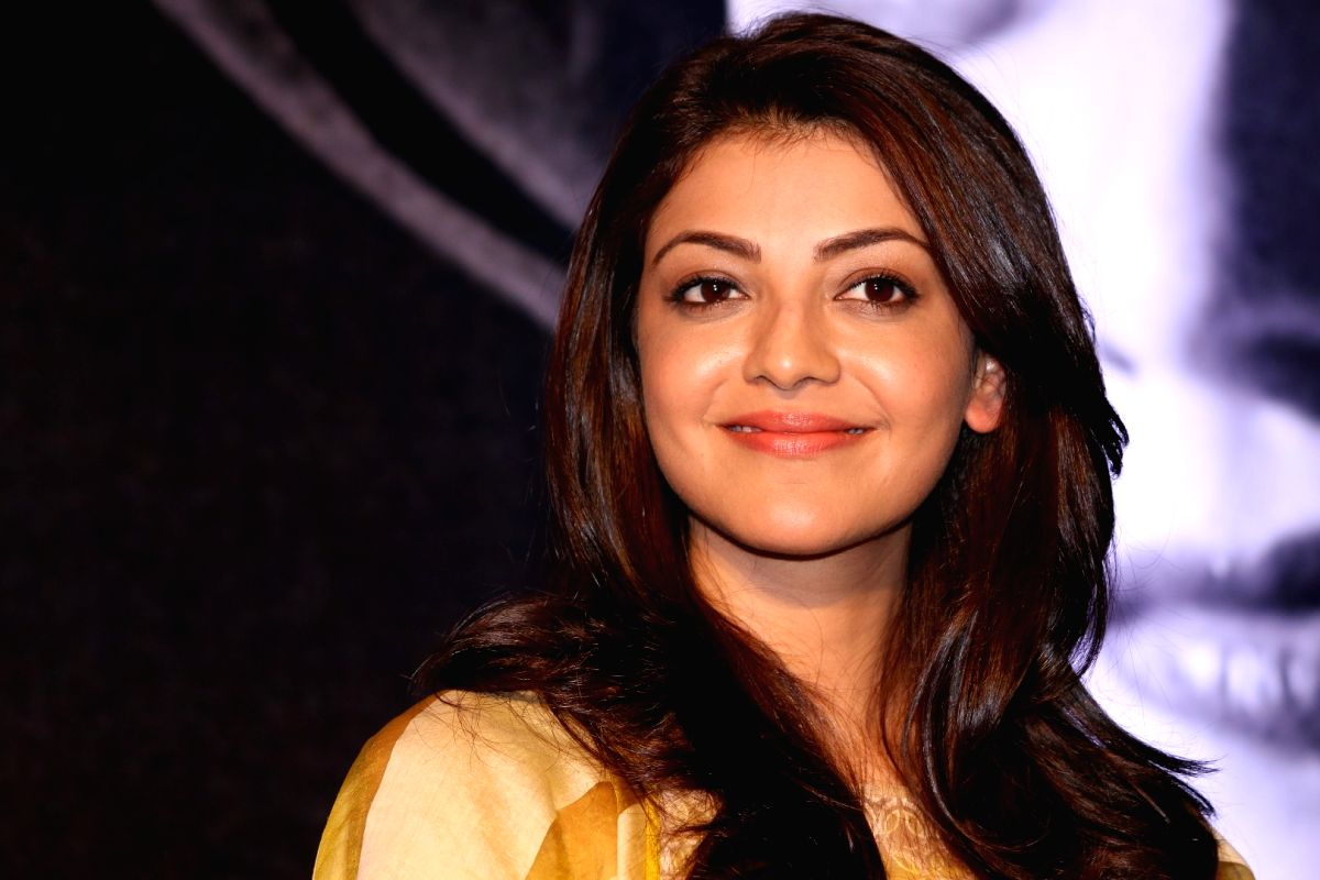 Mumbai: Actress Kajal Aggarwal launches mobile app in Mumbai, on March 18, 2017.