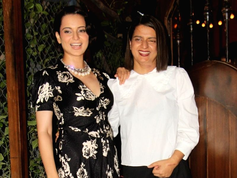 Actress Kangana Ranaut with her sister Rangoli Chandel
