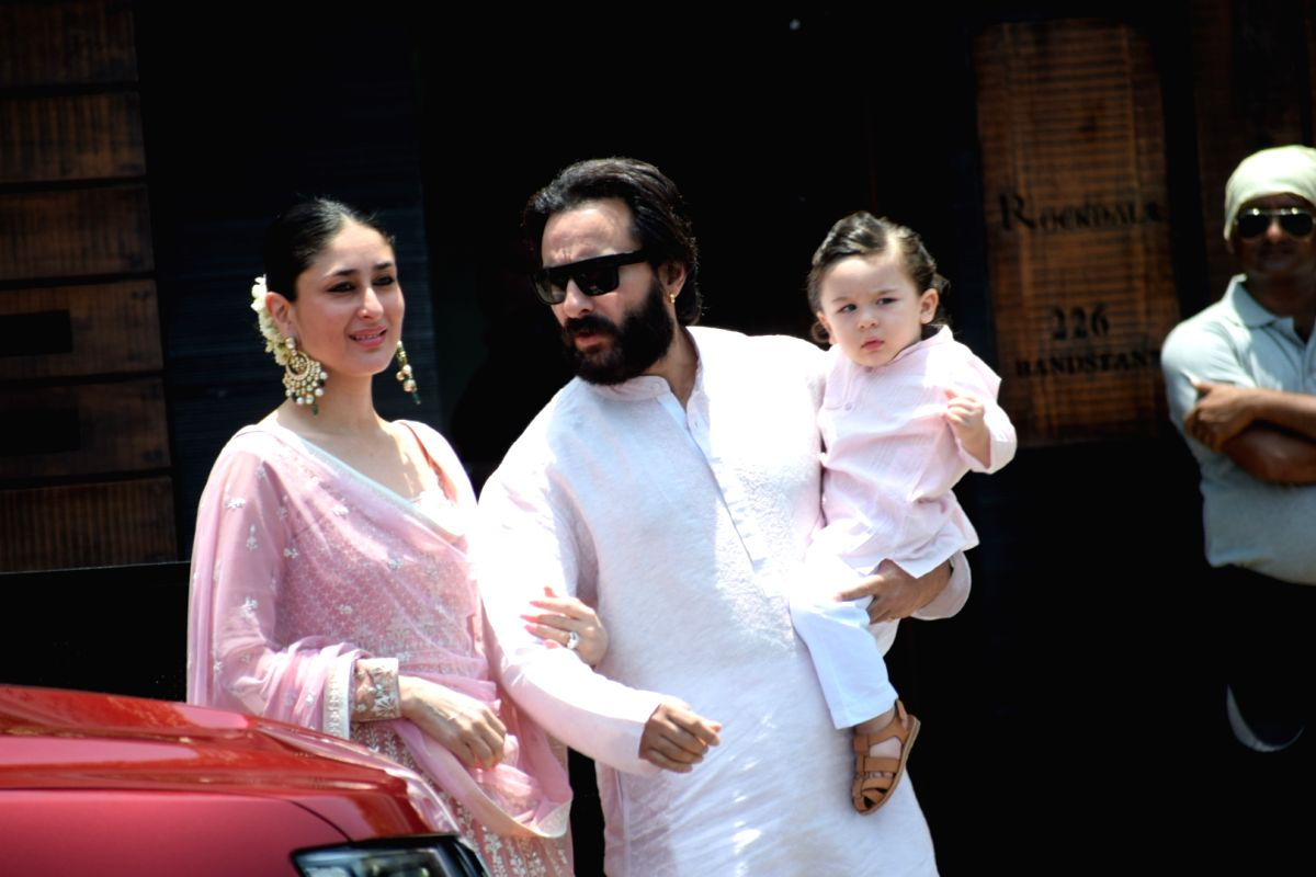 Actress Kareena Kapoor Khan along with her husband Saif Ali Khan and son Taimur