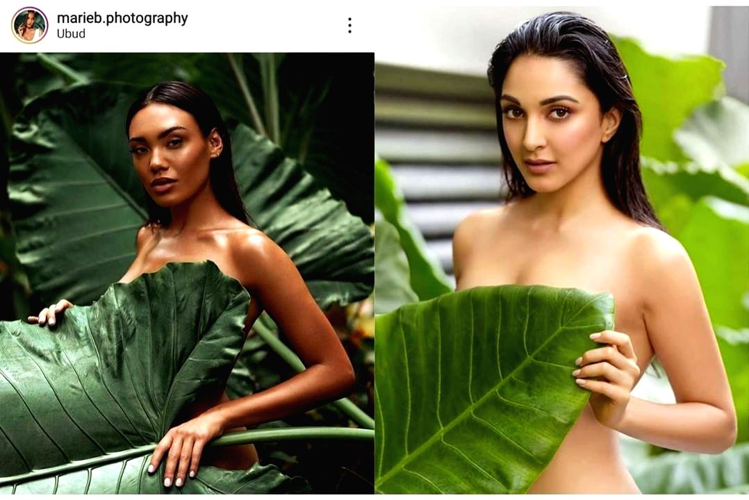 """Actress Kiara Advani has recently made her debut in ace photographer Daboo Ratnani's calendar 2020. But Kiara's photograph did not go down well with a section of social media users. """"Daboo is a copy cat. He copied the photography concept of Marie Bar"""
