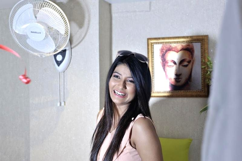 Actress Parno Mittra during inauguration of a spa in Kolkata on Wednesday.