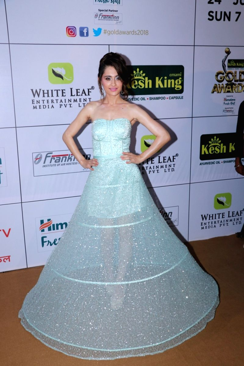 Another Disney princess at the Zee Gold Awards 2018 -  Sanjeeda Shaikh.