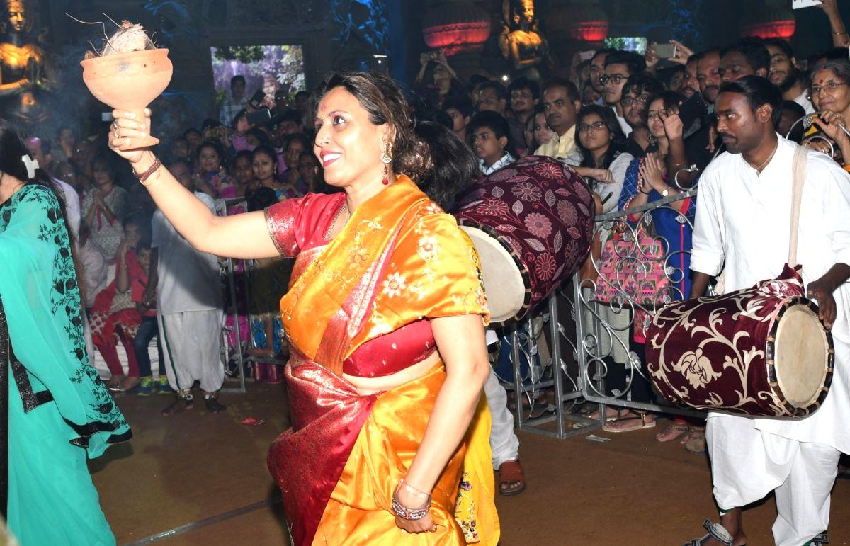 Actress Shomu Mitra at Maha Navami