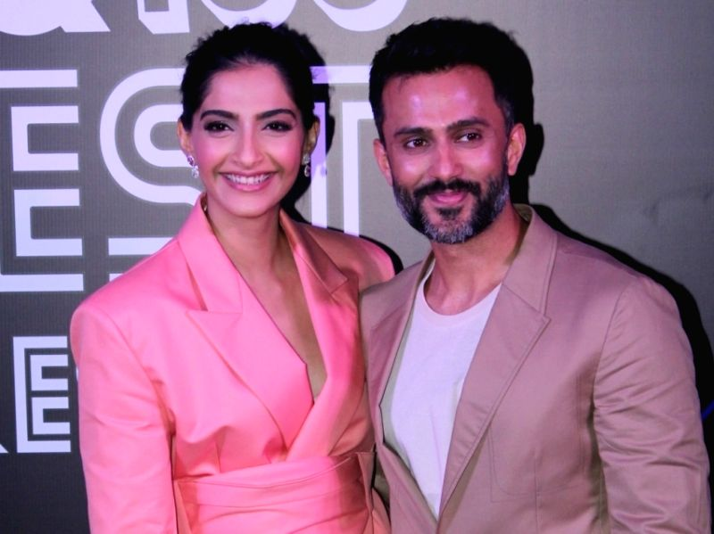 Actress Sonam Kapoor and her husband Anand Ahuja