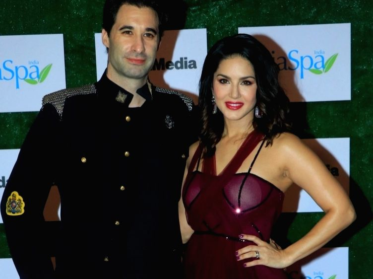 Actress Sunny Leone and her husband Daniel Weber
