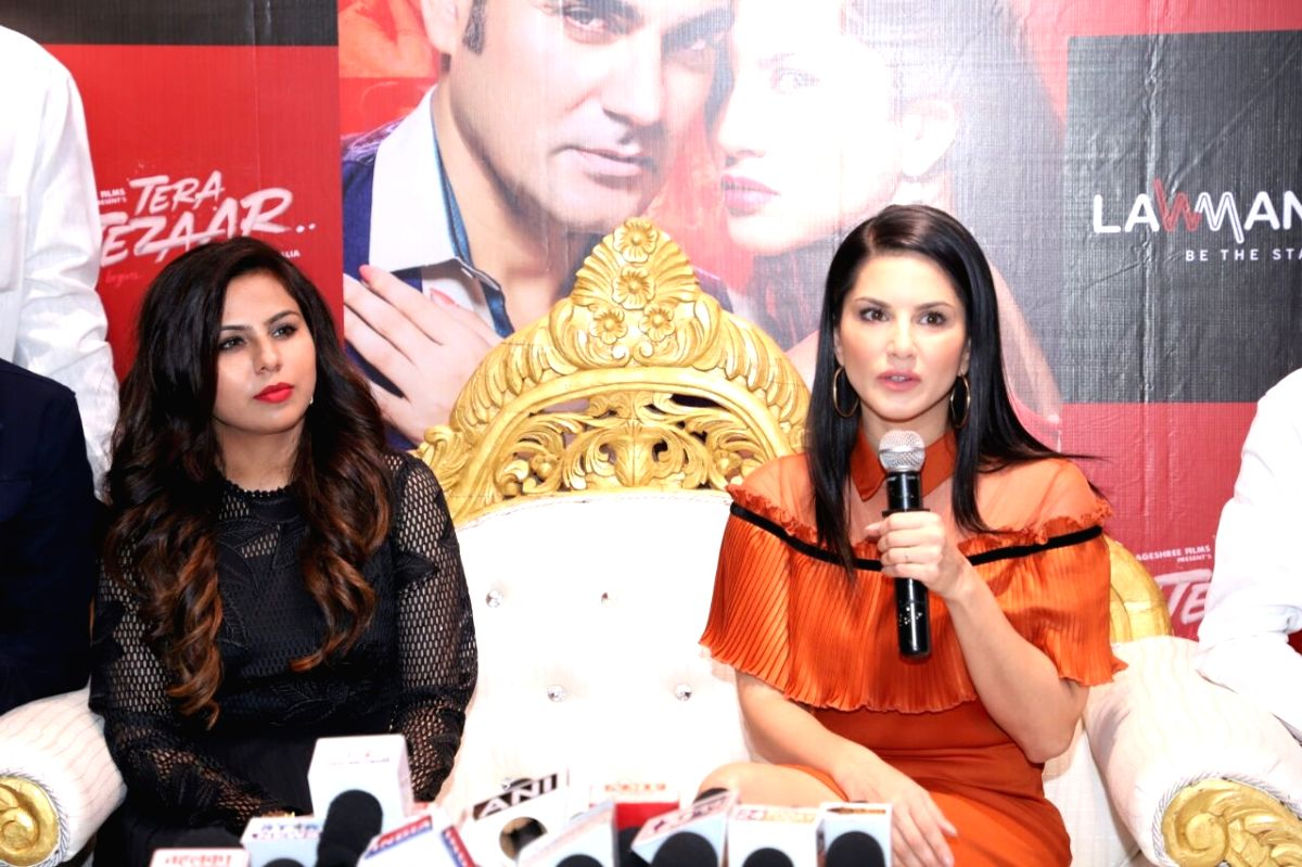 Actress Sunny Leone during a programme in Mumbai.