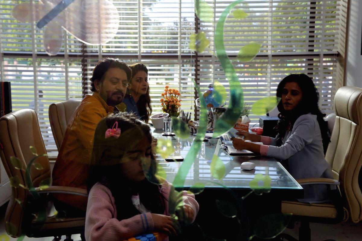 "Actress Tillotama Shome in a still from \""Hindi Medium\""."