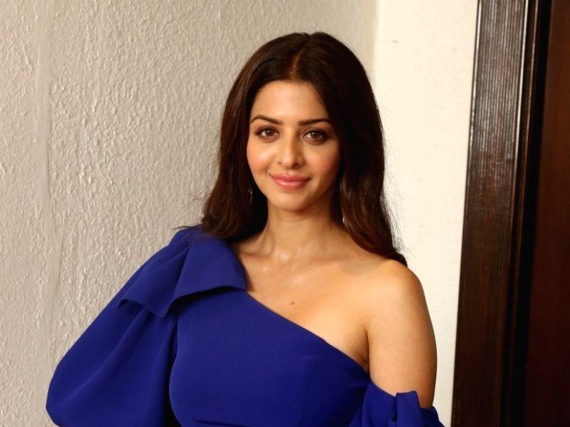 "Mumbai: Actress Vedhika Kumar during the promotions of her upcoming film ""The Body"" in Mumbai on Nov 18, 2019."