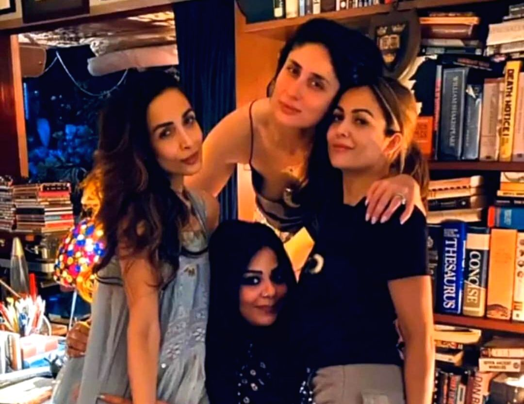 Actresses Malaika Arora, Kareena Kapoor Khan and Amrita Arora can be seen setting friendship goals in a new photograph.