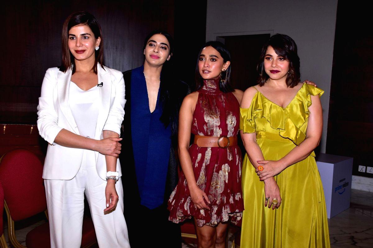 Actresses Sayani Gupta, Kirti Kulhari, Bani J and Maanvi Gagroo during the promotion of their upcoming web series Four More Shots Please