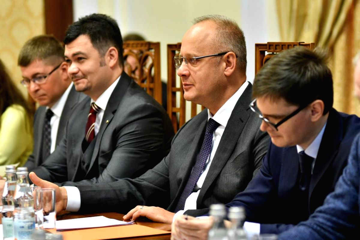 Advisor to the President of the Russian Federation Anton Kobyakov (2nd from Right).