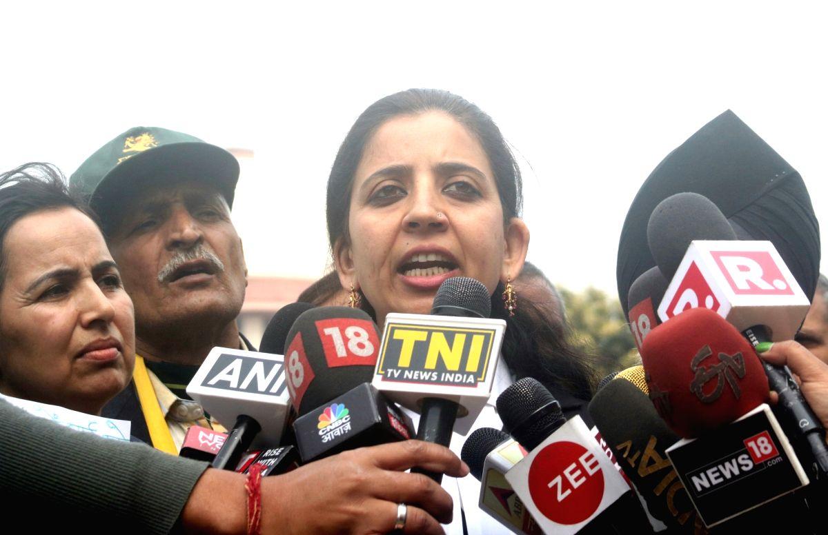Advocate Aishwarya Bhati, lawyer of Lt Col Karamveer Singh, father of Major Aditya Kumar, named in an FIR by Jammu and Kashmir Police in civilian killings during a firing incident, talks ...