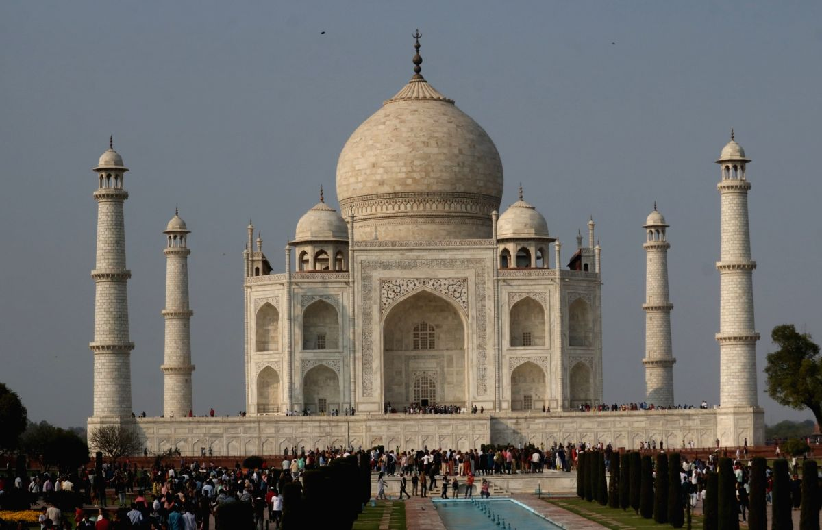 Agra:  A view of the Taj Mahal on the eve of US President Donald Trump's visit to Agra, on Feb 23, 2020. (Photo: Bidesh Manna/IANS)