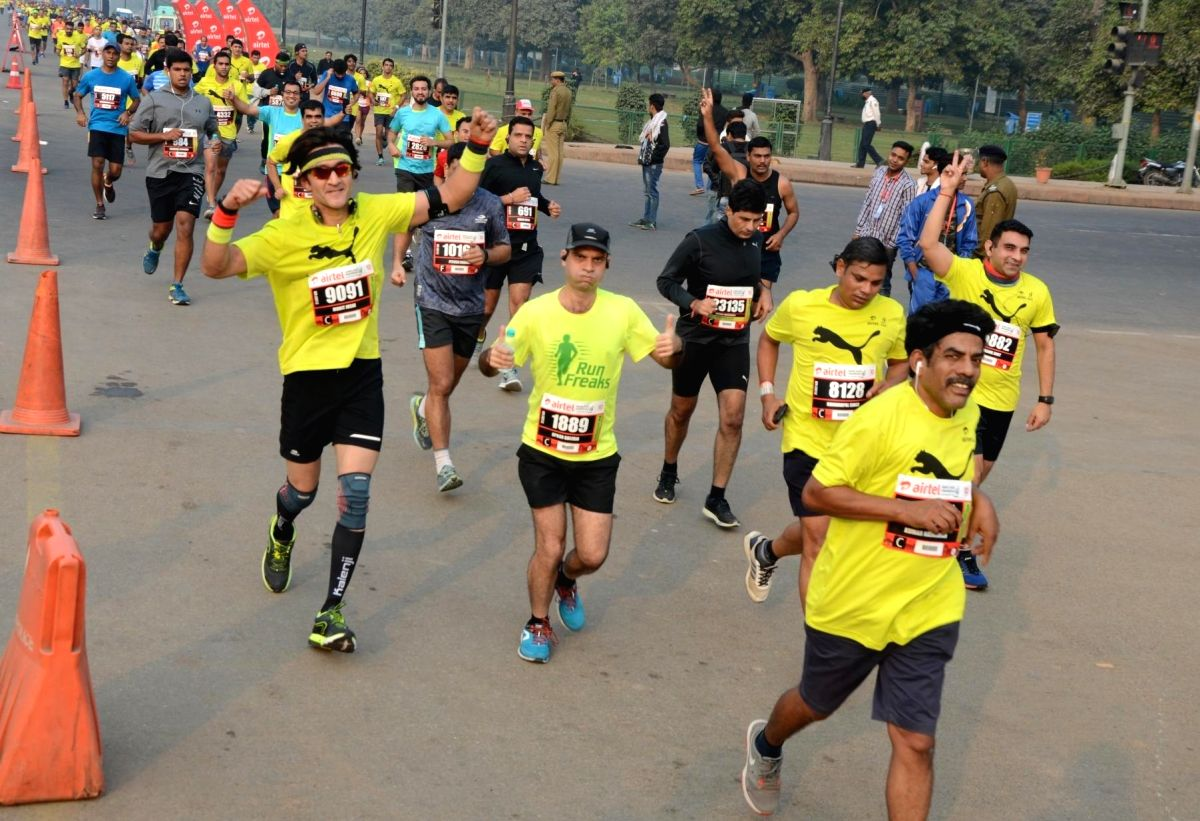 Airtel Delhi Half Marathon.(Photo: Bidesh manna/IANS)
