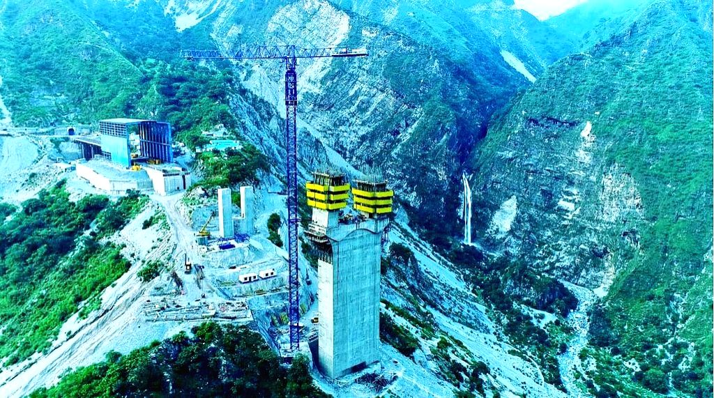 Ajni bridge is being built on the Katra-Banihal railway line at village Kauri in the Reasi district of J&K. The bridge will be 359 meters above the Chenab river bed and will also be 30 meters higher than the iconic Eiffel Tower in Paris, France.