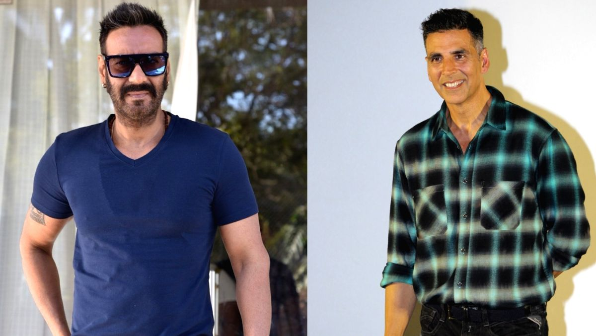 Akshay Kumar and Ajay Devgn. (Image Source: IANS)