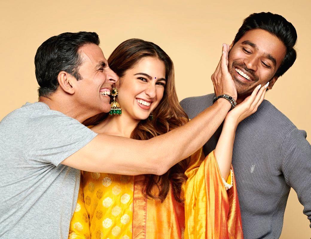 Akshay, Sara, Dhanush in 'Atrangi Re'