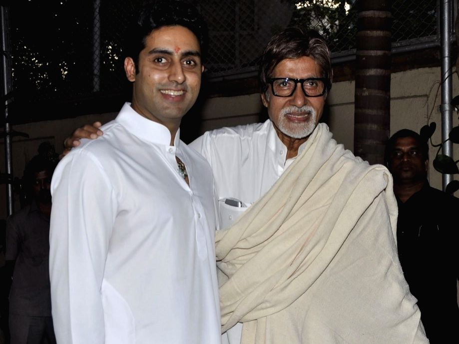 Amitabh Bachchan and his son Abhishek Bachchan