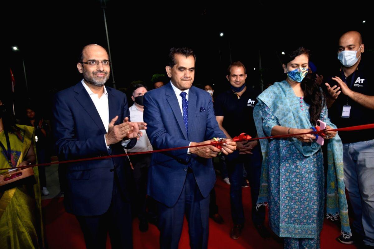Amitabh Kant, CEO, NITI Aayog inaugurating the Addverb facility in Noida, Uttar Pradesh