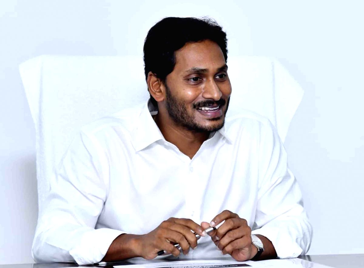 Amravathi: Andhra Pradesh Chief Minister Y. S. Jagan Mohan Reddy chairs a review meeting with the Finance and Revenue Department, in Amravathi on June 1, 2019.