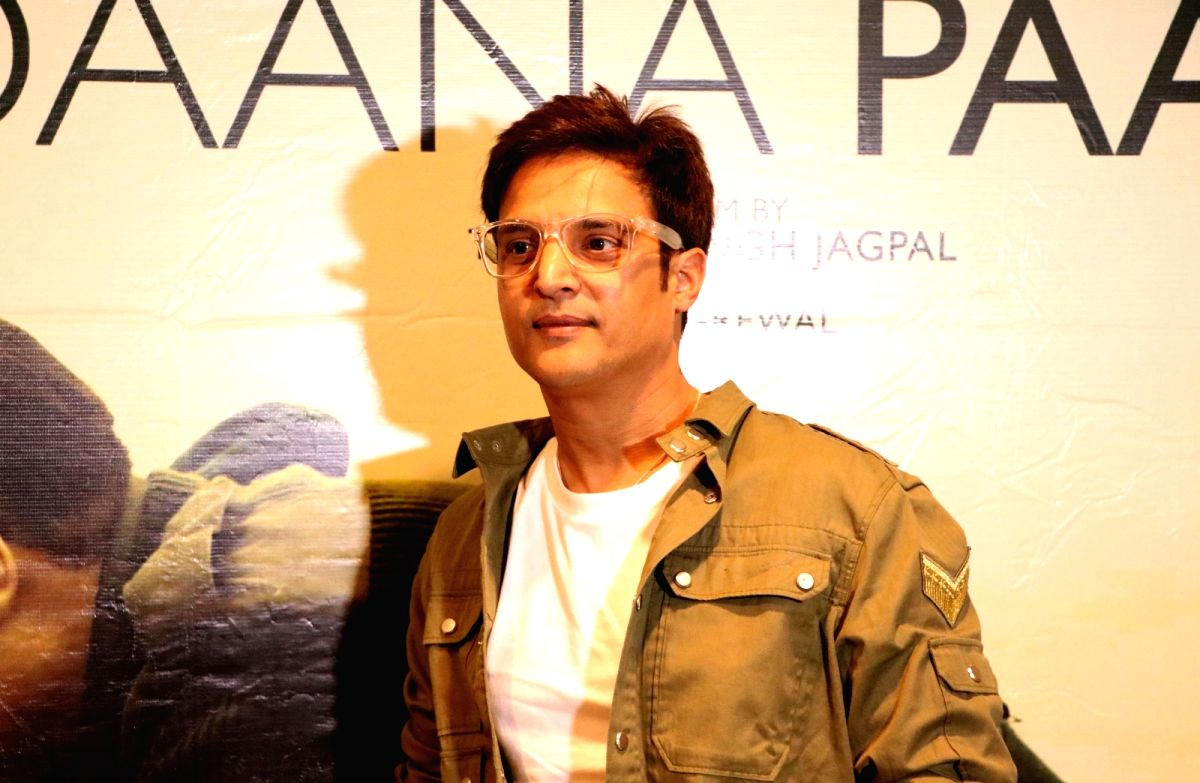 """Amritsar: Actor Jimmy Sheirgill during the promotion of his upcoming film """"Daana Paani"""", in Amritsar on May 2, 2018."""