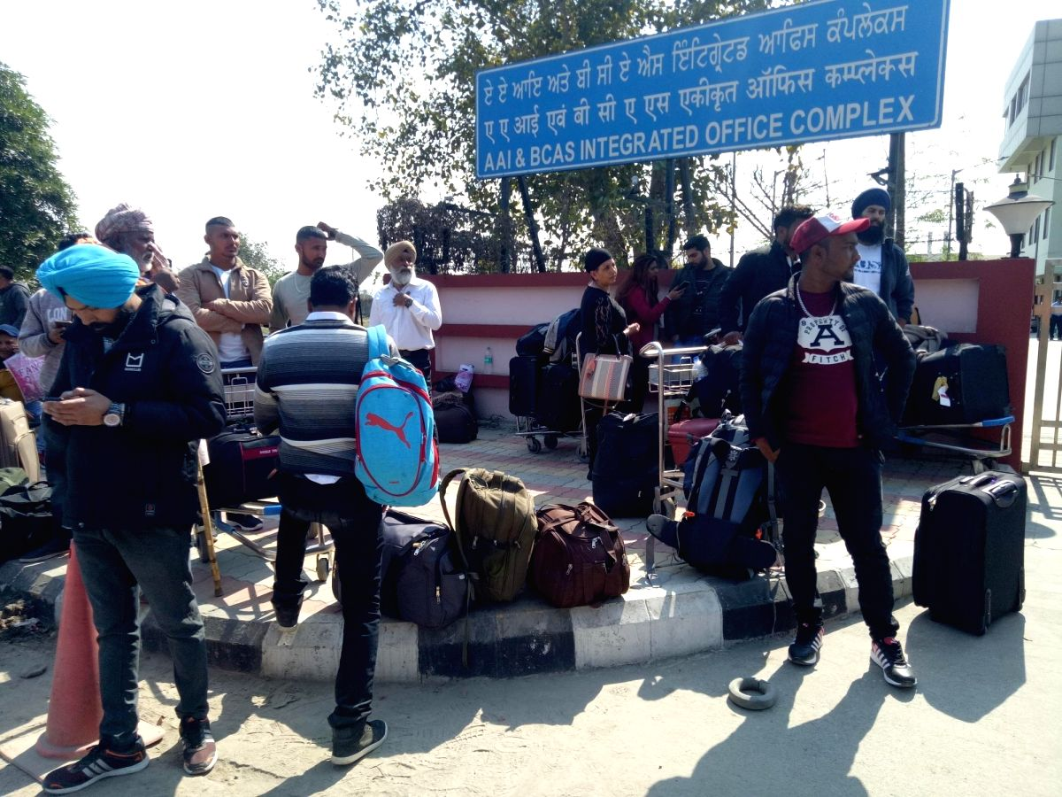 Amritsar: Passengers stranded at Amritsar airport on Feb 27, 2019. Several airports including Srinagar, Jammu, Leh, Amritsar and Chandigarh have been closed for civilian operation, airport sources said on Wednesday. According to informed sources, the