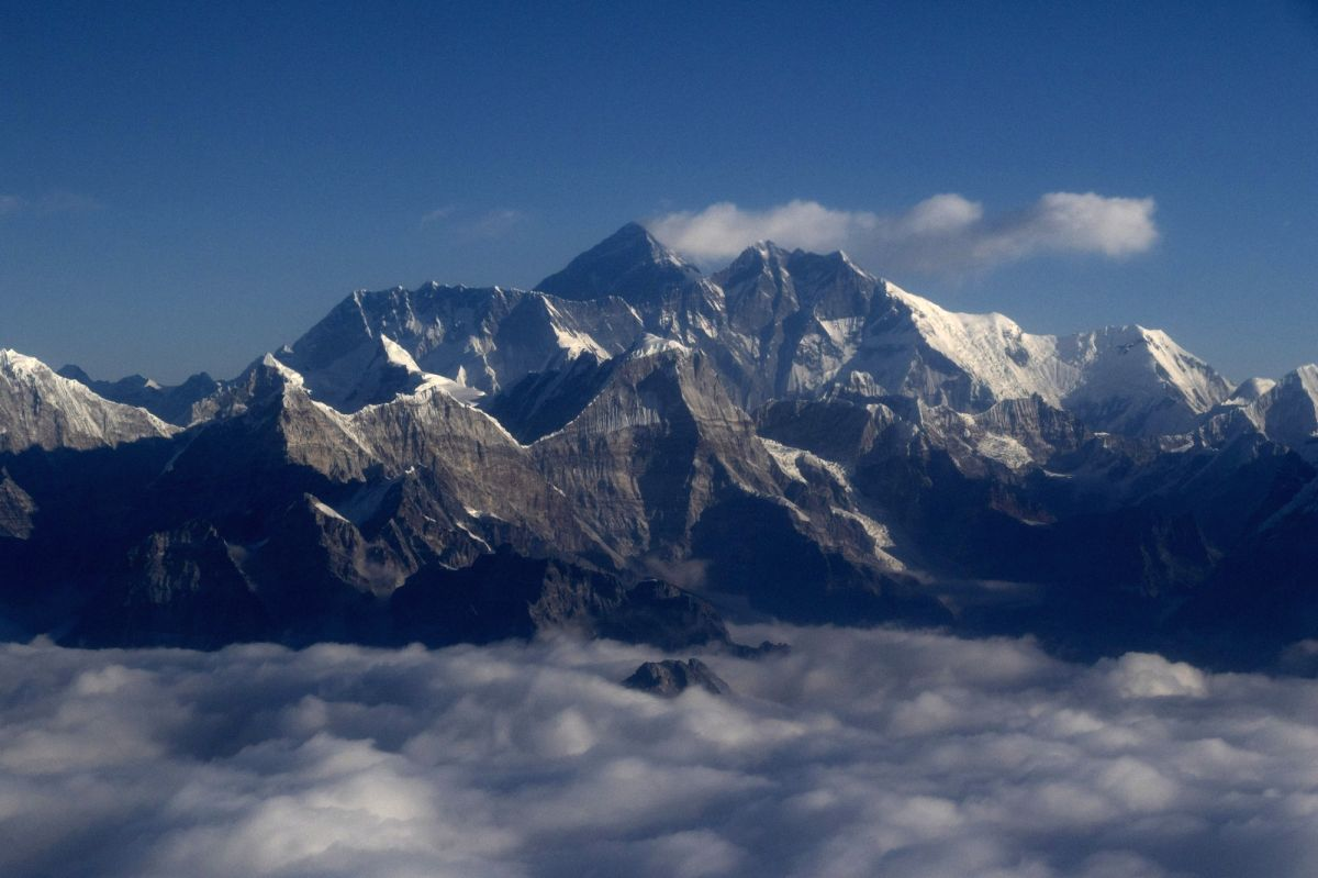 An aerial view of Mount Everest, the world's highest peak, among other mountains in Nepal. Photo: Aryan Dhimal/ZUMA Wire/dpa/IANS