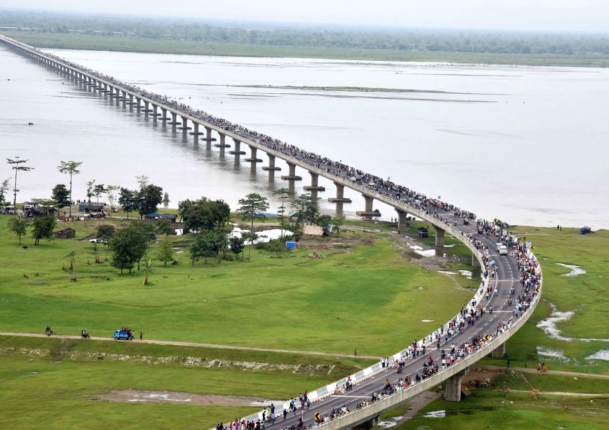 Dhola-Sadiya bridge, Assam , India