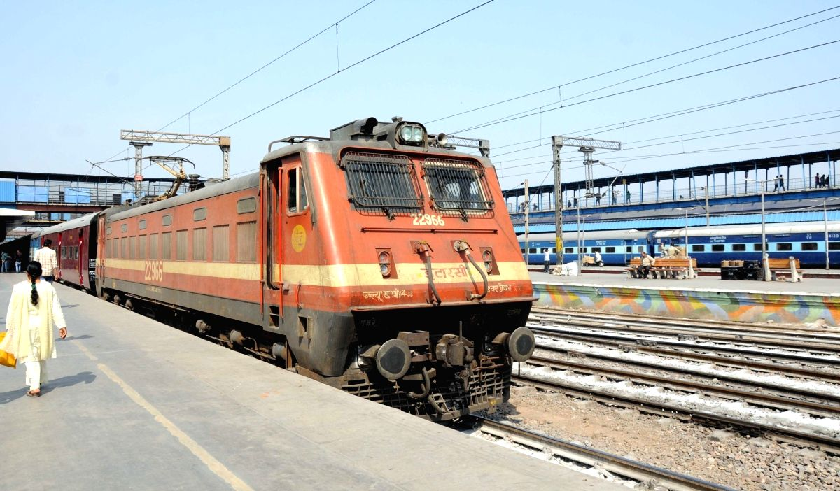An engine of Indian Railways at New Delhi Railway Station. (File Photo: IANS)