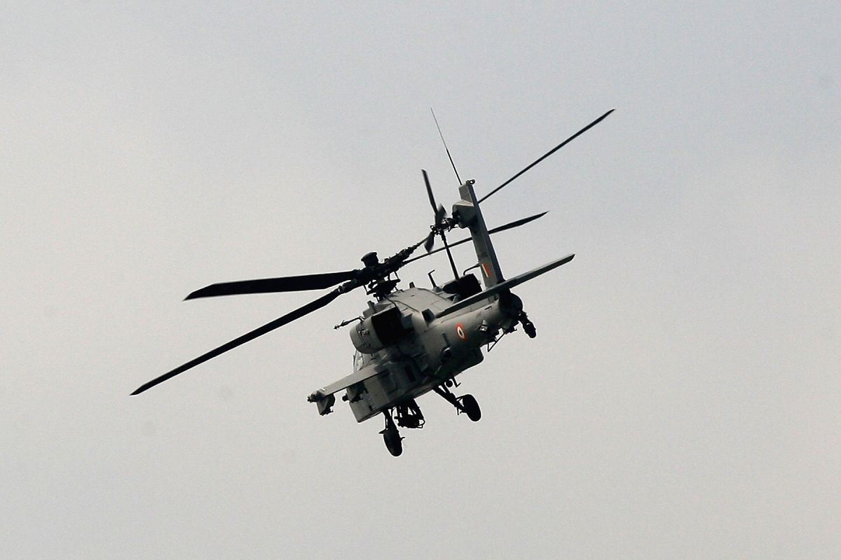 An Indian Air Force (IAF) helicopter kicked up a huge cloud of dust when it flew low over the Manekshaw parade ground in the city centre where the 71st Republic Day celebrations were held on Sunday.