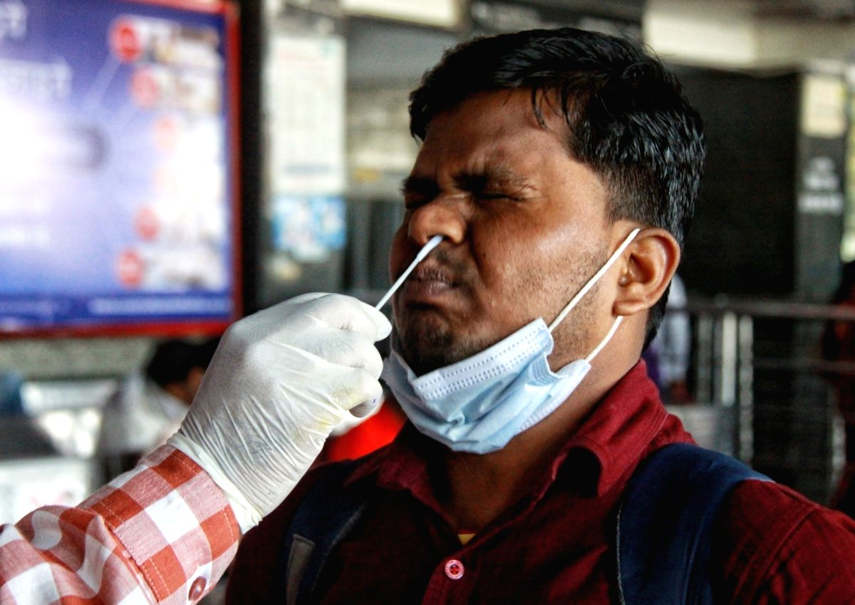 Andhra reports 1,730 covid cases, 5 deaths on Sunday.(Photo:Wasim Sarvar/IANS)