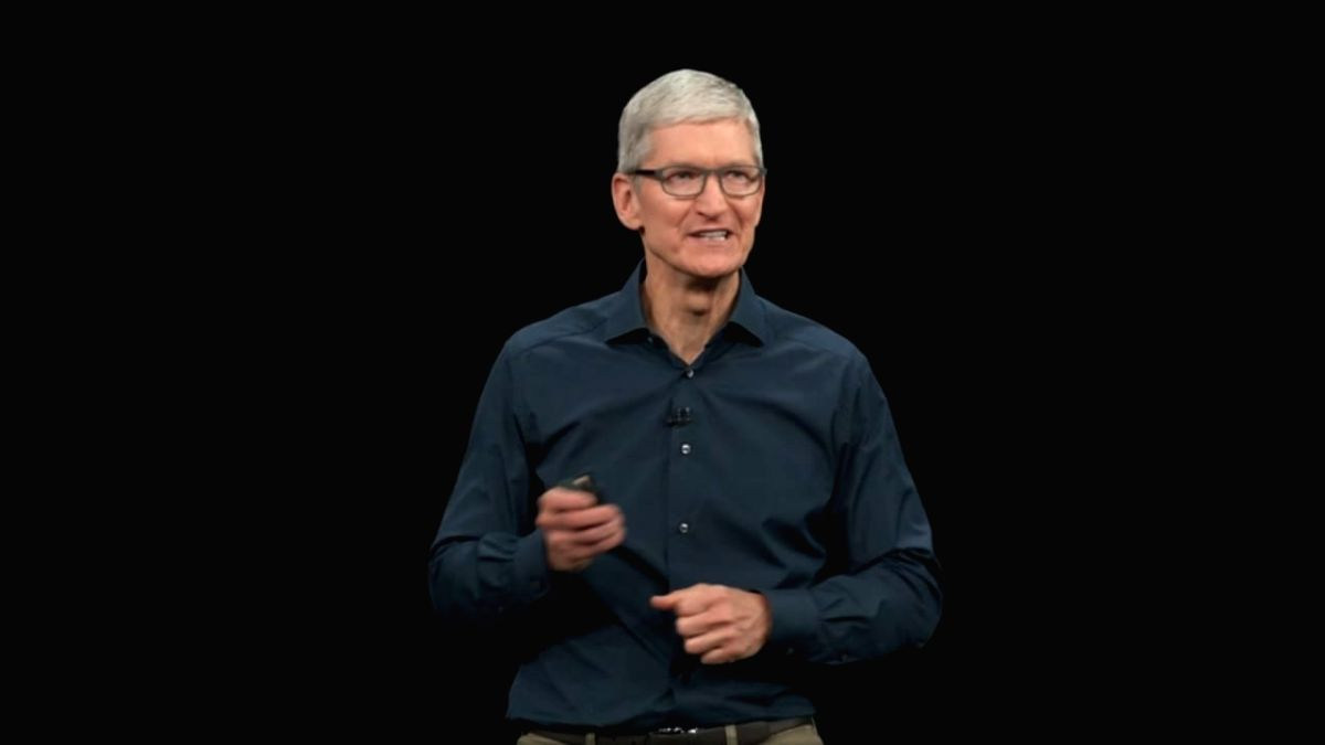 Apple CEO Tim Cook at an event in California where the company officially introduced its 2018 line-up of iPhones -- the premium iPhone XS, iPhone XS Max and iPhone XR,  late on Wednesday.