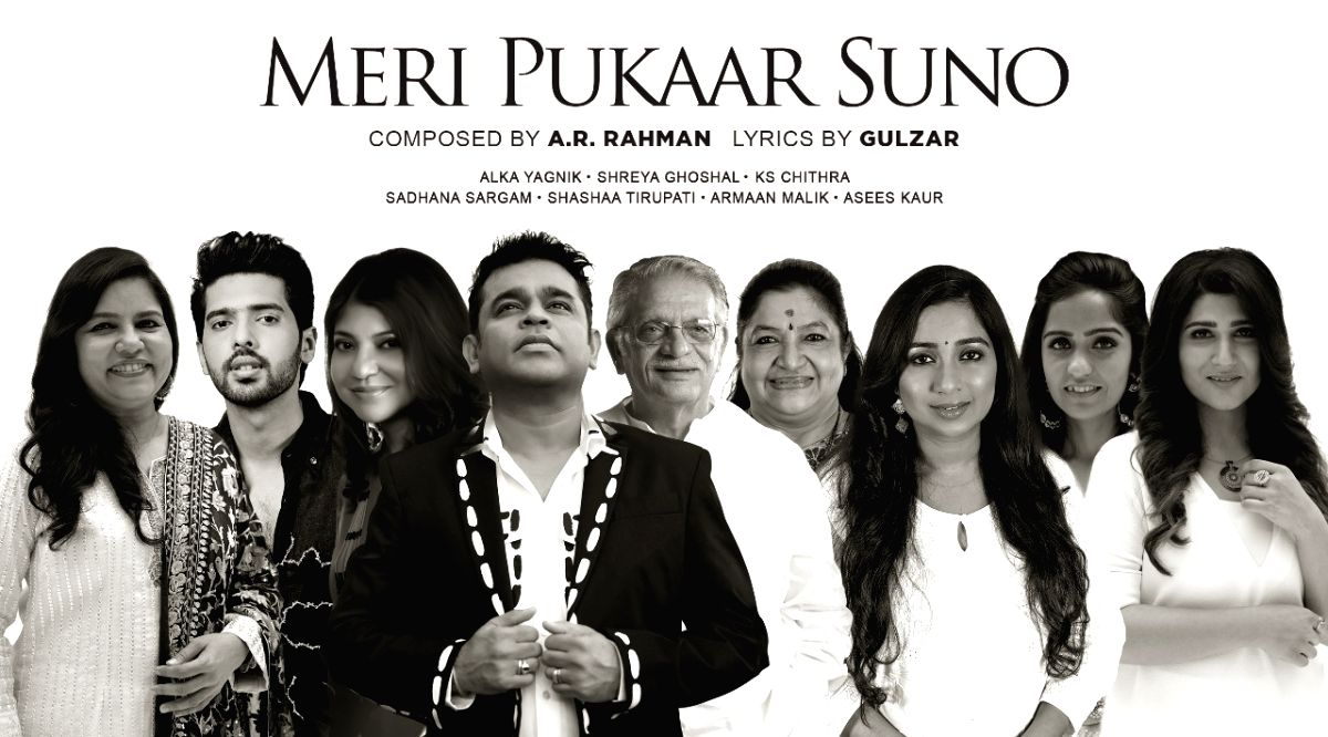 AR Rahman, Gulzar create hope anthem 'Meri pukaar suno', sung by 7 top singers.