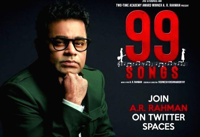 AR Rahman presents '99 Songs' special digital concert(Credit :arrahman/twitter)