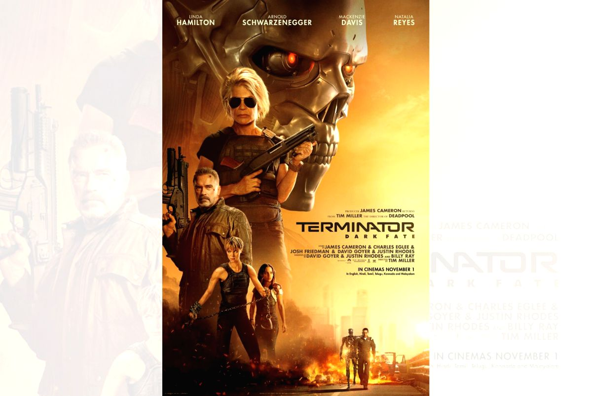 "Arnold Schwarzenegger's ""Terminator: Dark Fate"" will release in India on November 1. Fox Star India will release ""Terminator: Dark Fate"" in India in six languages -- English, Hindi, Tamil, Telugu, Kannada and Malayalam."
