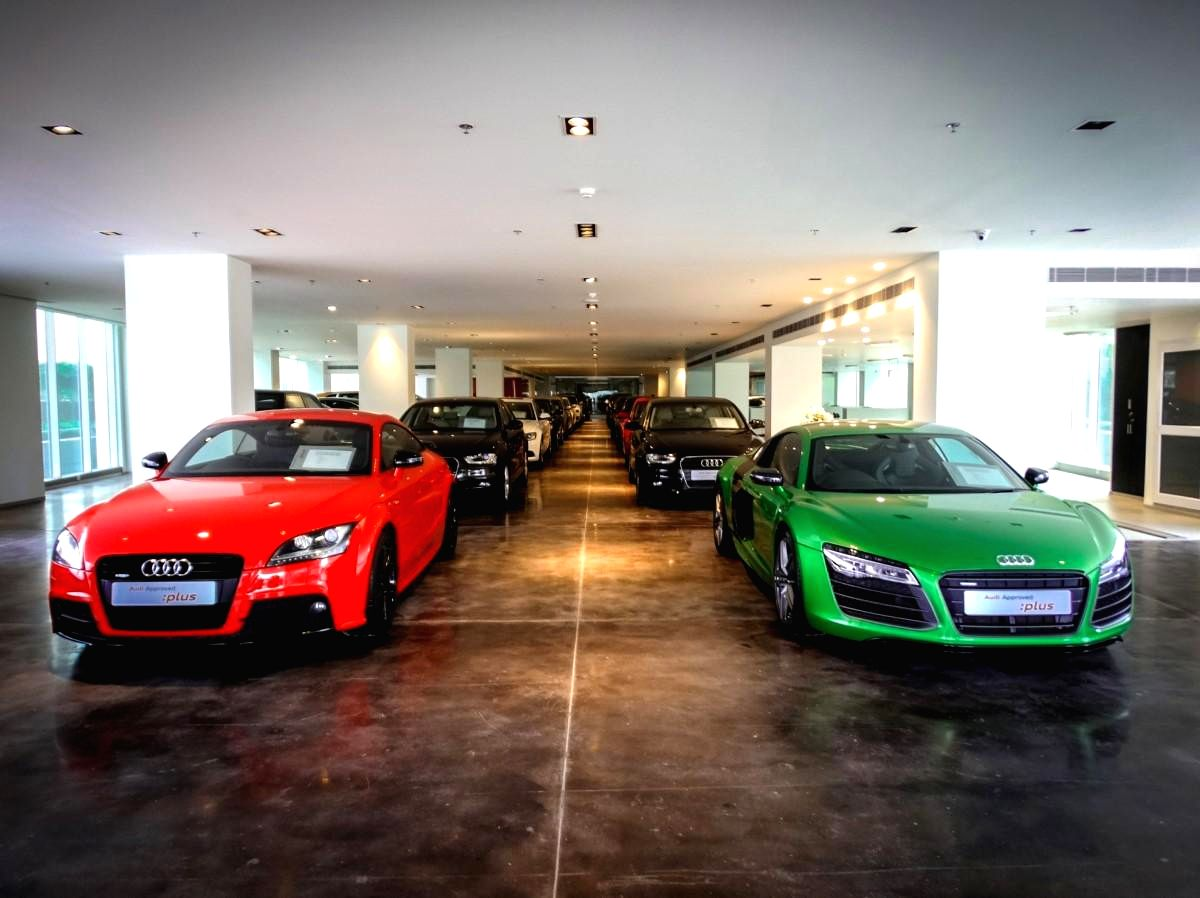 Audi India inaugurates country's largest pre owned luxury car showroom Audi Approved Plus in Gurgaon at 21st April 2014