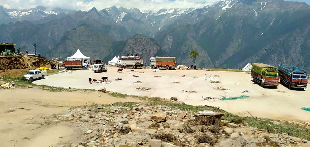 Auli: A view of the site where the high-profile wedding of the sons of South Africa-based businessmen brothers Ajay and Atul Gupta was held at the ski resort of Auli in Uttarakhand's Chamoli district, after the Joshimath municipality conducted a clea