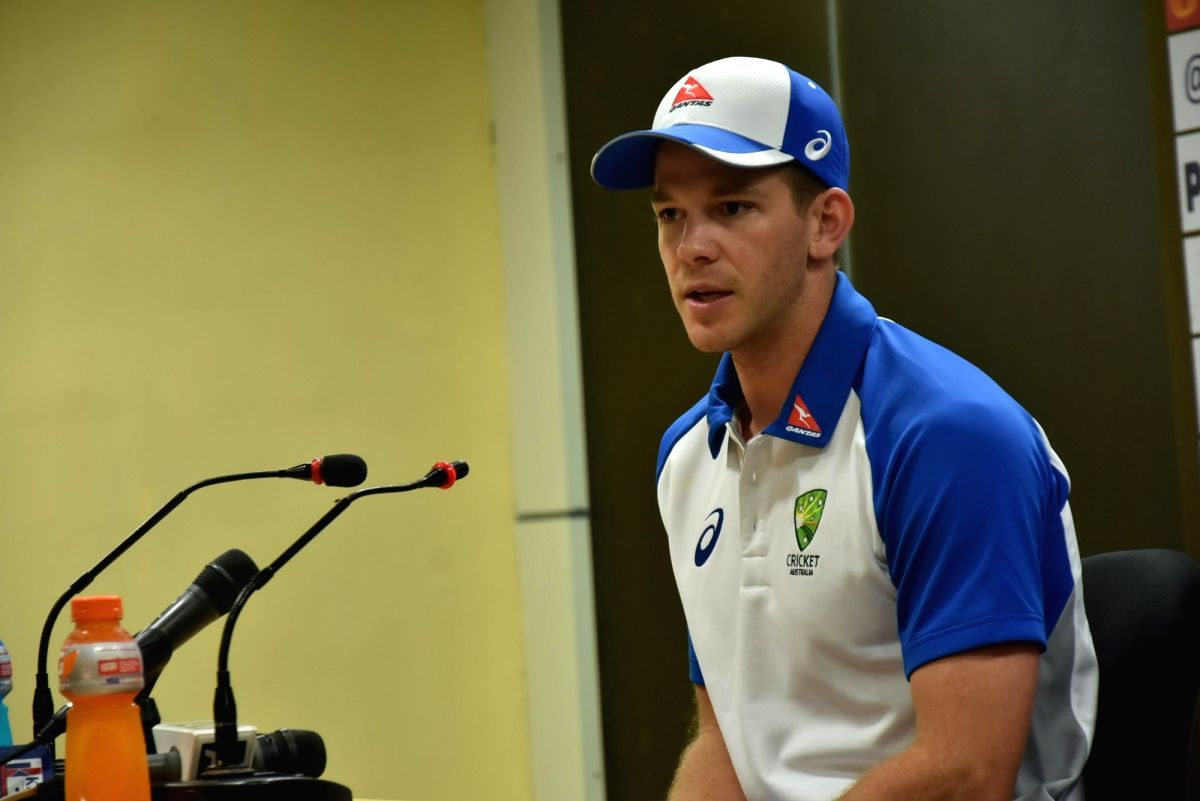 Ranchi: Australian cricketer Tim Paine addresses a press conference ahead of T-20 match against Australia at JSCA Stadium in Ranchi on Oct 6, 2017.
