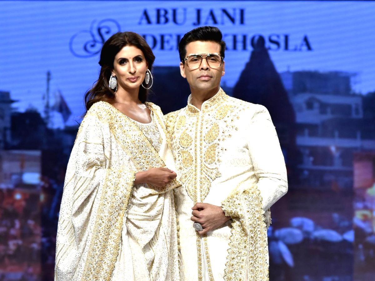 Author Shweta Bachchan Nanda and filmmaker Karan Johar