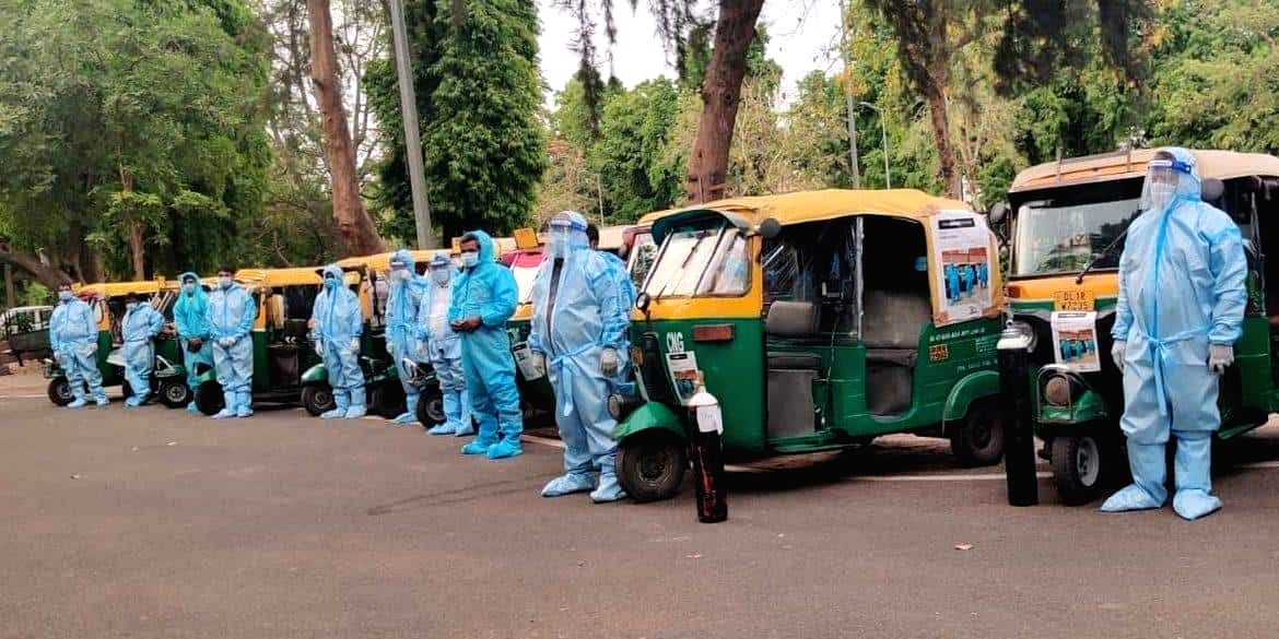 Autorickshaw Ambulances lead the way across India to ferry Covid-19 patients to hospitals